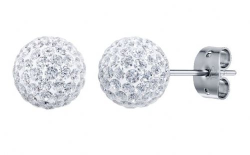 Tresor Paris 8mm White Medium BonBon Stud Earrings